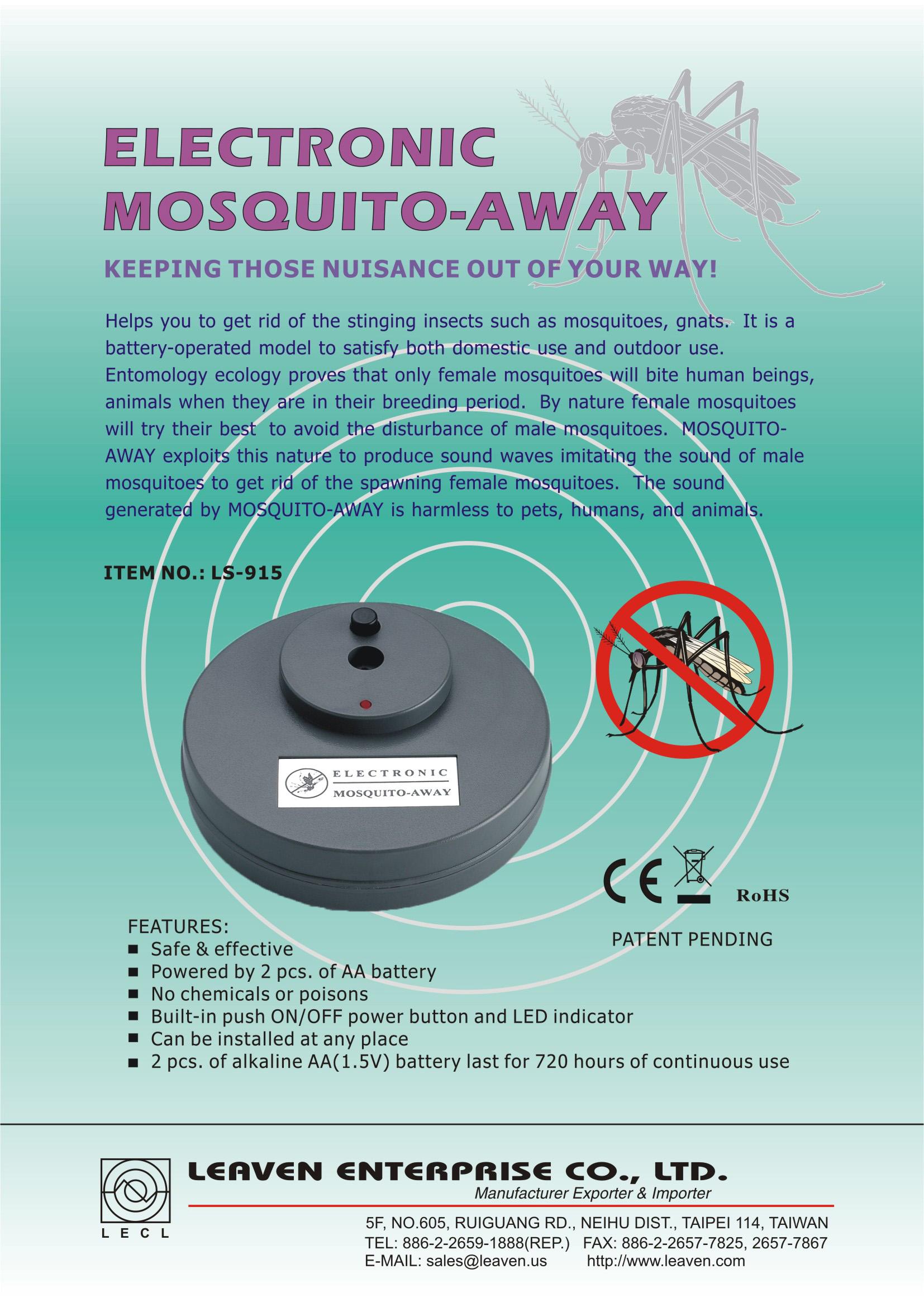 Pest Repeller Animal Manufacturer Leaven Enterprise Co Mosquito Power Saver Circuit Ls 915 Away